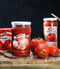 معجون الطماطم بعبوات زجاجية